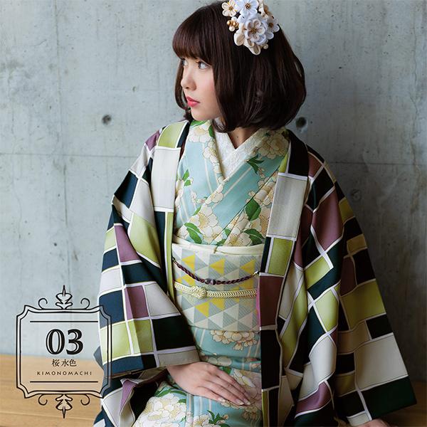 羽織付き6点セット 03桜 水色